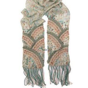 Mary Frances My Tie  one of a kind silk scarf